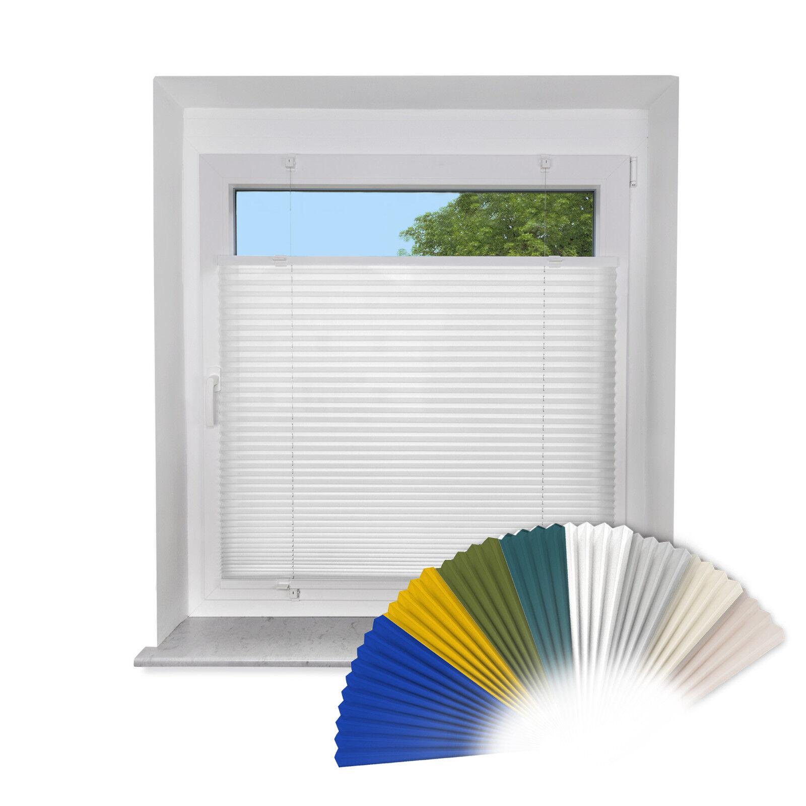 Klemmfix PLISSEE für Fenster & Türe Faltrollo Rollo Sichtschutz