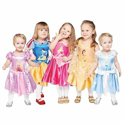 Official Disney Princess Girl Fancy Dress Costume Christmas Panto Gift Baby Gown - Disney Official Costumes