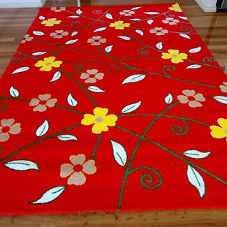 New Red Floral Beautiful Turkish Rug Wheelers Hill Monash Area Preview