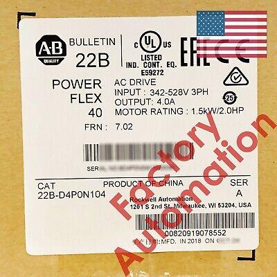 20182019 Us Stock Allen-bradley Powerflex 40- 1.5 Kw 2 Hp Ac Drive 22b-d4p0n104