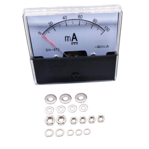 US Stock Analog Panel AMP Current Ammeter Meter Gauge DH-670 0-100mA DC