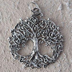 NEU 925 Silber 3cm ANHÄNGER LEBENSBAUM Baum des Lebens KETTENANHÄNGER