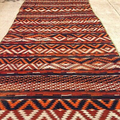 Hand knotted Sumak Turkish Kilim Rug Soumak Sumac Runner 6'X13' for sale  Shipping to South Africa