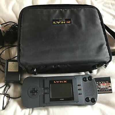Atari Lynx 1 Console With California Games, Official PSU & Kit Case Bag Bundle