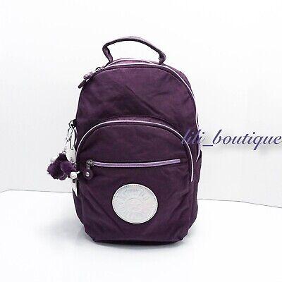 "NWT Kipling BP4369 Seoul Go Small Backpack 11"" Laptop Purple Verbena Hologram"