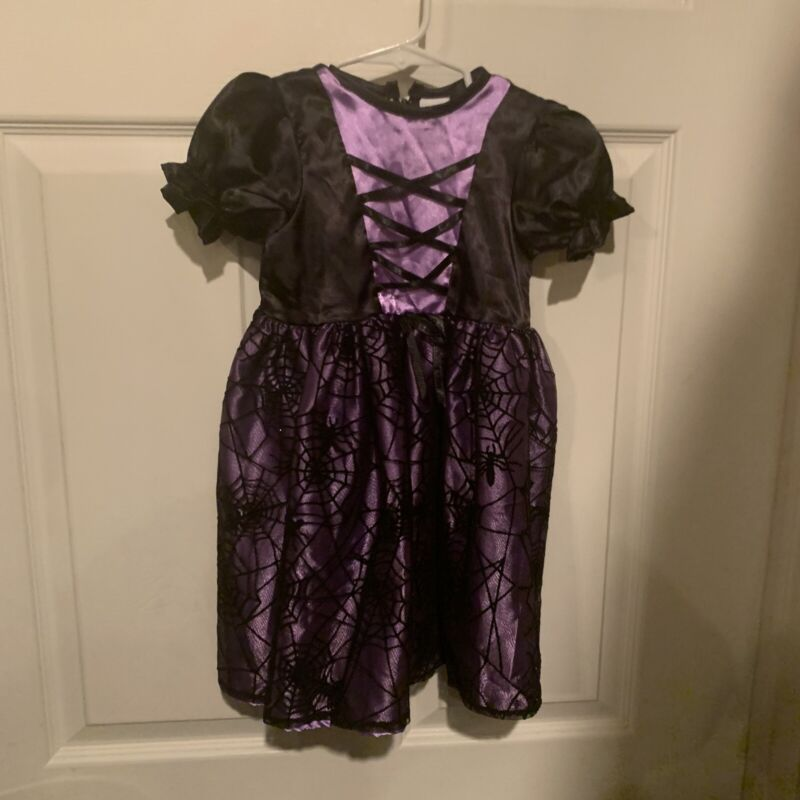 Spider Witch Costume Infant Size 18 Months Black Purple