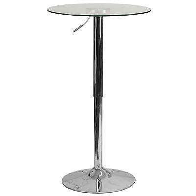 Budget Glass Chrome Restaurant Bar Pub Cocktail Table 24