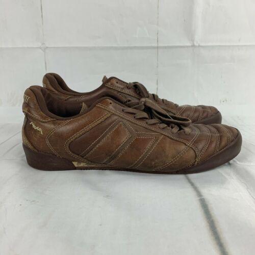 RARE Macbeth Bonham Size 11 Skate Shoes Tom Delonge Brown Leather Logo
