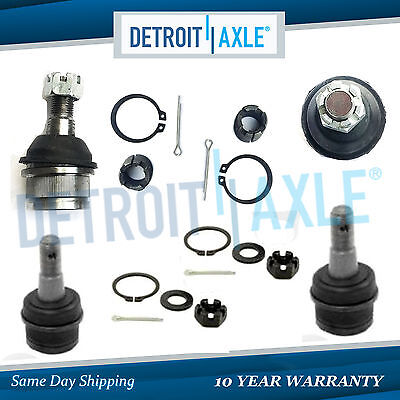 New All 4 Front Upper  Lower Ball Joints Jeep Grand Cherokee Wrangler