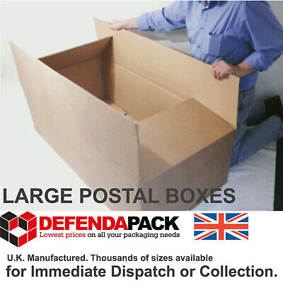 10 LONG STRONG DOUBLE WALL STORAGE SHIPPING POSTAL BOXES 1200x590x360mm DW472314