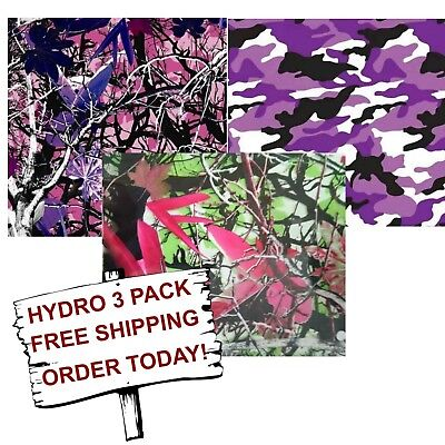 Hydrographic Water Transfer Hydro Dip Hydro Dipping Film Lady Camo 3 Pack