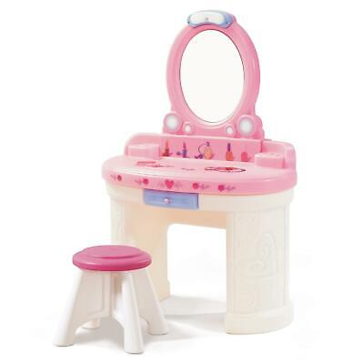 Step2 Fantasy Girls Pretend Vanity Play Set With A Shatterproof Plastic Mirror