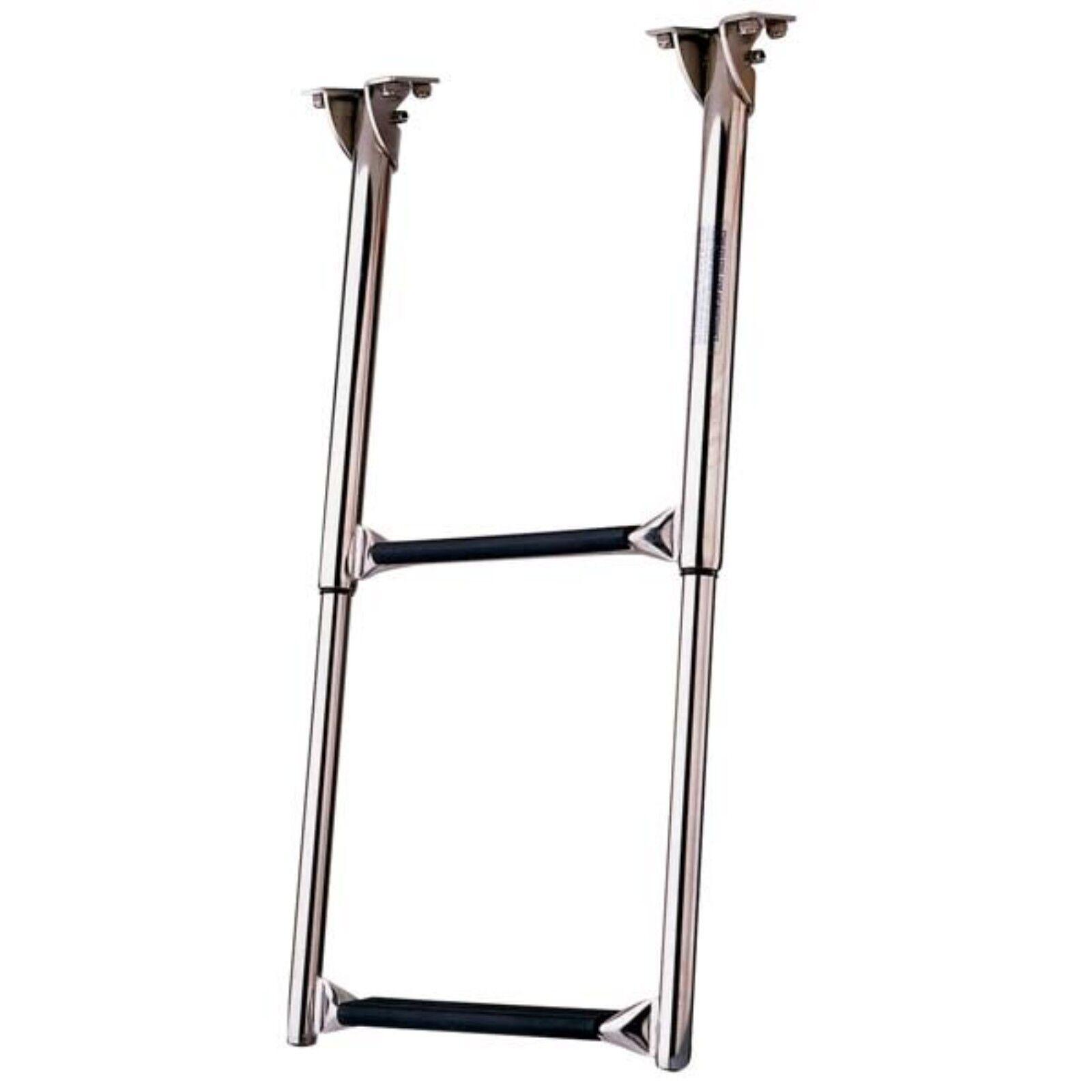 """Garelick 5031 Portable Folding Boarding Ladder 11/"""" Hook 3 Steps"""