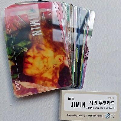 BTS Jimin Transparent 25 Photocards Bangtan Boys 5th Album Sigend Photocard Kpop