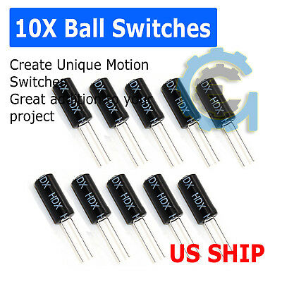 10PCS SW-520D Vibration Sensor Metal Ball Tilt Shaking Switch US SHIP