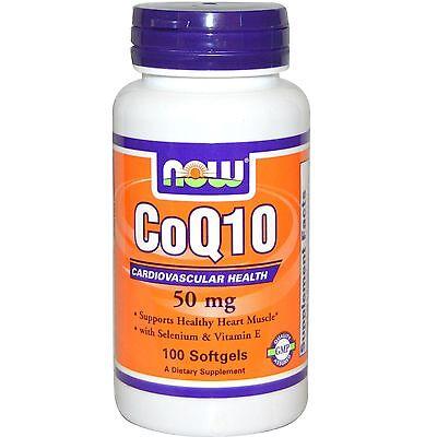 100 Mg 50 Gels - Now Foods CoQ10 50mg + Vit E, 100 gels