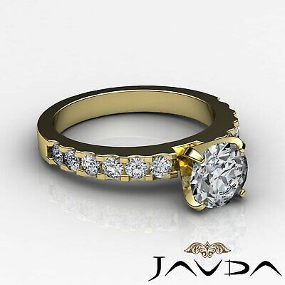 Shared Prong Round Natural Diamond Engagement Ring GIA Certified H SI1 1.47 Ct 8