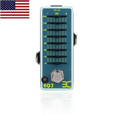 7 Band Equalizer Pedal - EX Stompbox EQ7 V2 7-band Graphic Equalizer Micro EQ Pedal Free US Shipping