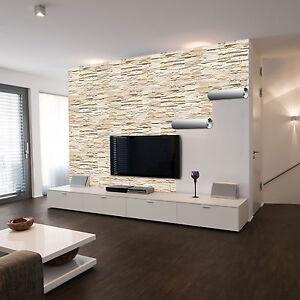 selbstklebende xxl fototapete steinwand ashlar stein wand mauer wandtapete ebay. Black Bedroom Furniture Sets. Home Design Ideas