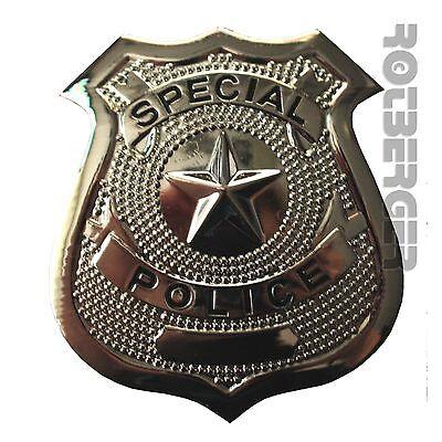 Police Badge Polizei Abzeichen Kostüm Zubehör Karneval