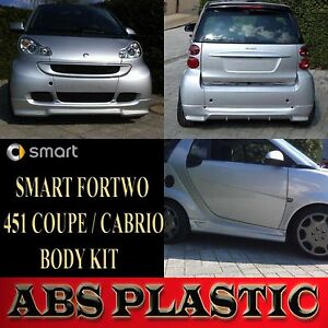 smart fortwo 451 coupe cabrio street x body kit bodykit. Black Bedroom Furniture Sets. Home Design Ideas