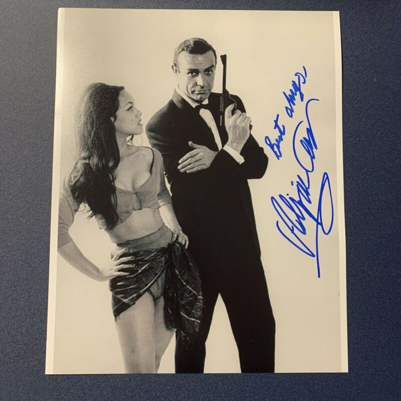 ALIZA GUR HAND SIGNED 8x10 PHOTO SEXY ACTRESS AUTOGRAPHED JAMES BOND 007 COA