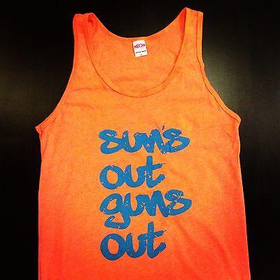 Sun's Out Guns Out Tank Top American Apparel Beach Shirt Spring Break Party  American Apparel Tank Top