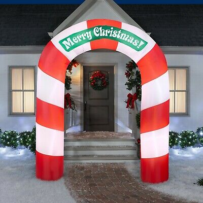 7.5FT Merry Christmas Archway Airblown Inflatable Gemmy Yard Decor SHIPS FAST
