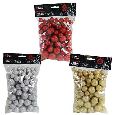 25g Bag (Christmas Decoration - 25g Bag of Polyfoam Glitter Balls - Choose)