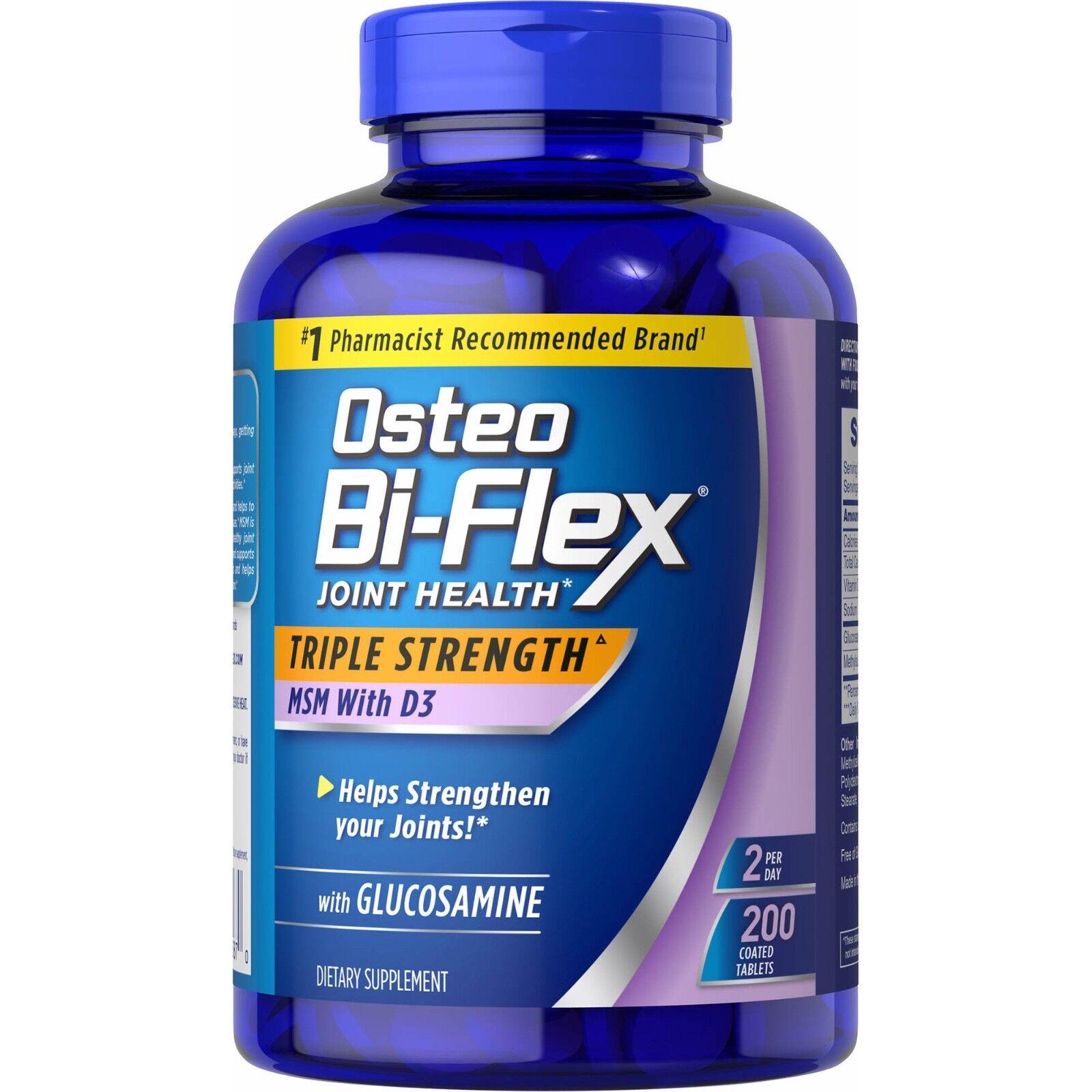 200 Osteo Bi-Flex Triple Strength Glucosamine MSM D3 EXP 03/
