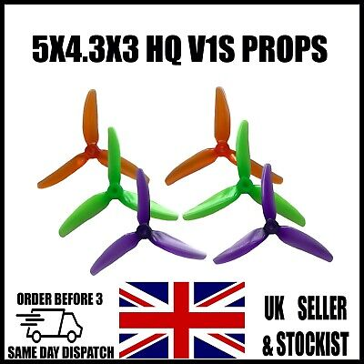 HQ PROP 5X4.3X3 V1S DURABLE POLYCARBONATE PC PROPS Propellers Quadcopter Drone