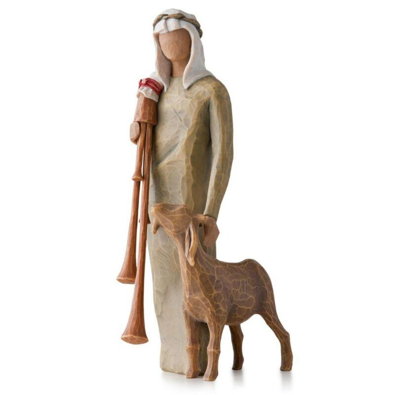 Willow Tree Zampognaro Shepherd with Bagpipe Nativity Figurine 27183 -Free Ship