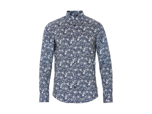 MATINIQUE Trostol Organic Print Shirt/Chambrey Blue - 3XL NEW SS17