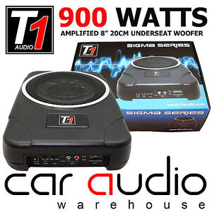 bsw8act 900 watts amplified under seat slimline car sub subwoofer bass tube ebay. Black Bedroom Furniture Sets. Home Design Ideas