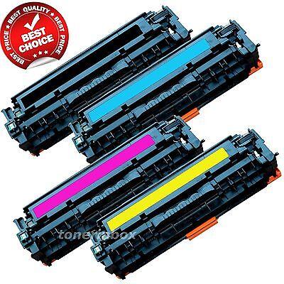 Set of 4 PK CE320A 128A Laser Toner For Color HP LaserJet Pro CM1415FNW CP1525NW