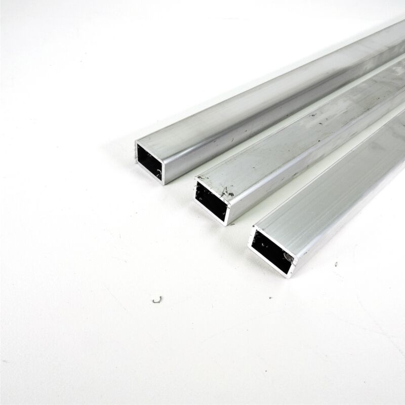 "1"" x 1.5"" OD Alumnum Rectangle TUBING 0.125"" wall thick 47.5"" long QTY 3 skuA105"