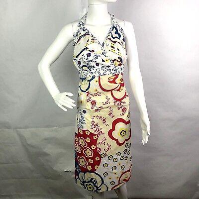 Torrid Plus Size Floral Rockabilly Pin-Up Wrap Bust Halter Top Dress Sz 24 B2