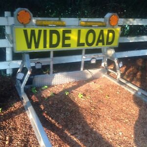 Gmc Ford Ram WIDE LOAD sign