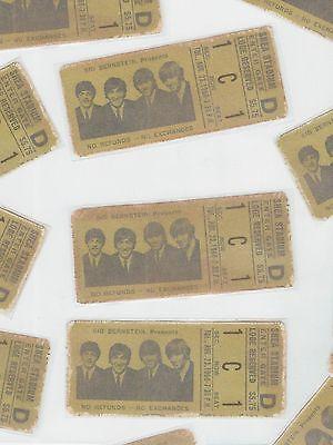 BEATLES concert REPRODUCTION/REPLICA ticket stub SHEA STADIUM August 23, 1966