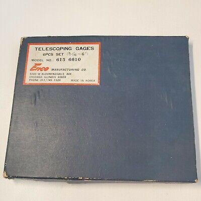 Telescoping Gages Gauges Enco 516 6 Pcs Case Box No.615 6610