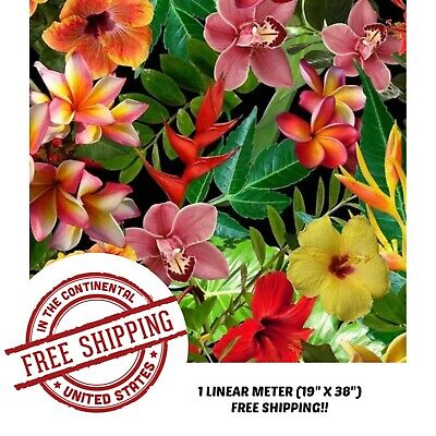 Hydrographic Film Water Transfer Hydro Dipping Dip Tropical Flowers Film 19x38
