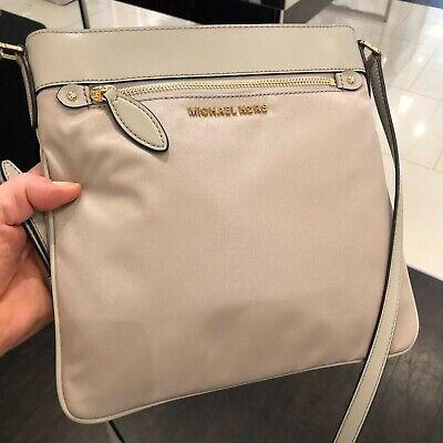 Michael Kors Women Nylon Leather Crossbody Handbag Bag Purse Shoulder Strap MK