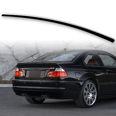 Painted UK Boot Lip Spoiler For BMW 3 Series E46 Coupe 99-06 Black Sapphire 475 for sale  Coalville
