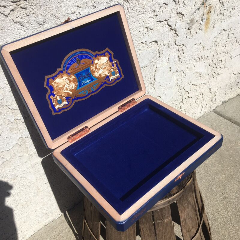 Ep Carrillo Pledge Sojourn Empty Wooden Cigar Box 10.5x8.5x1.75