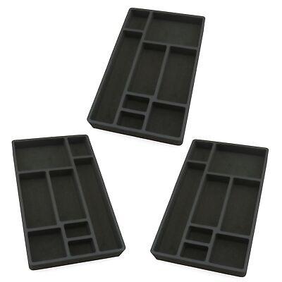 3 Drawer Organizers For Desk Black Insert Home Or Office 8 Slot 19.9 X 12.1