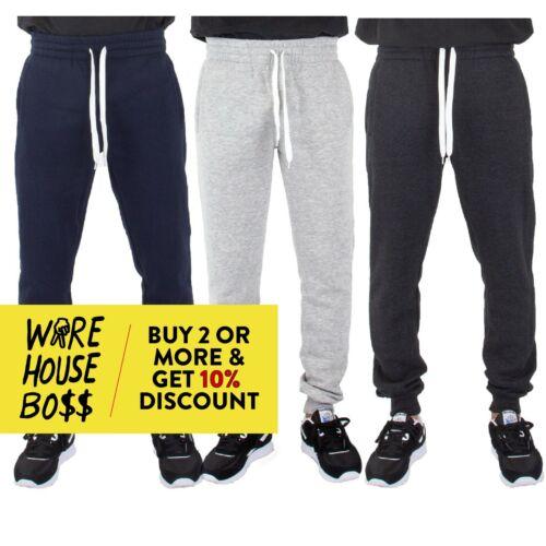 Shaka Mens Plain Sweatpants Slim Fit Jogger 3 Pocket Active Fleece Pants Hip Hop