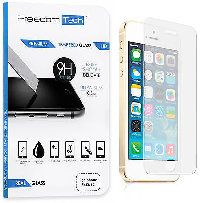 Superior QUALITY PREMIUM REAL TEMPERED GLASS SCREEN PROTECTOR FOR IPHONE SE 5S 5C 5