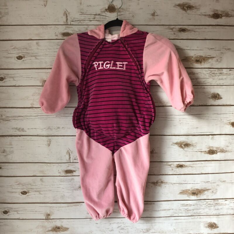 Disney Store PIGLET Costume Infant Size 18-24 Months One Piece Warm Zip Front