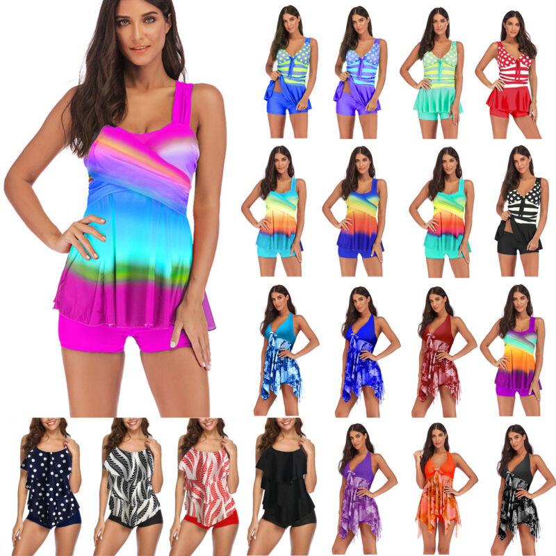 Damen Bikini Set Bademode Badeanzug Beachwear Tankini Strand Swim Kleid Gr.34-48
