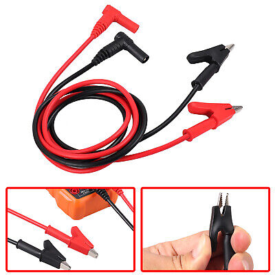 Banana Plug To Alligator Clip Electronic Multimeter Test Lead Kits Heavy Duty Us